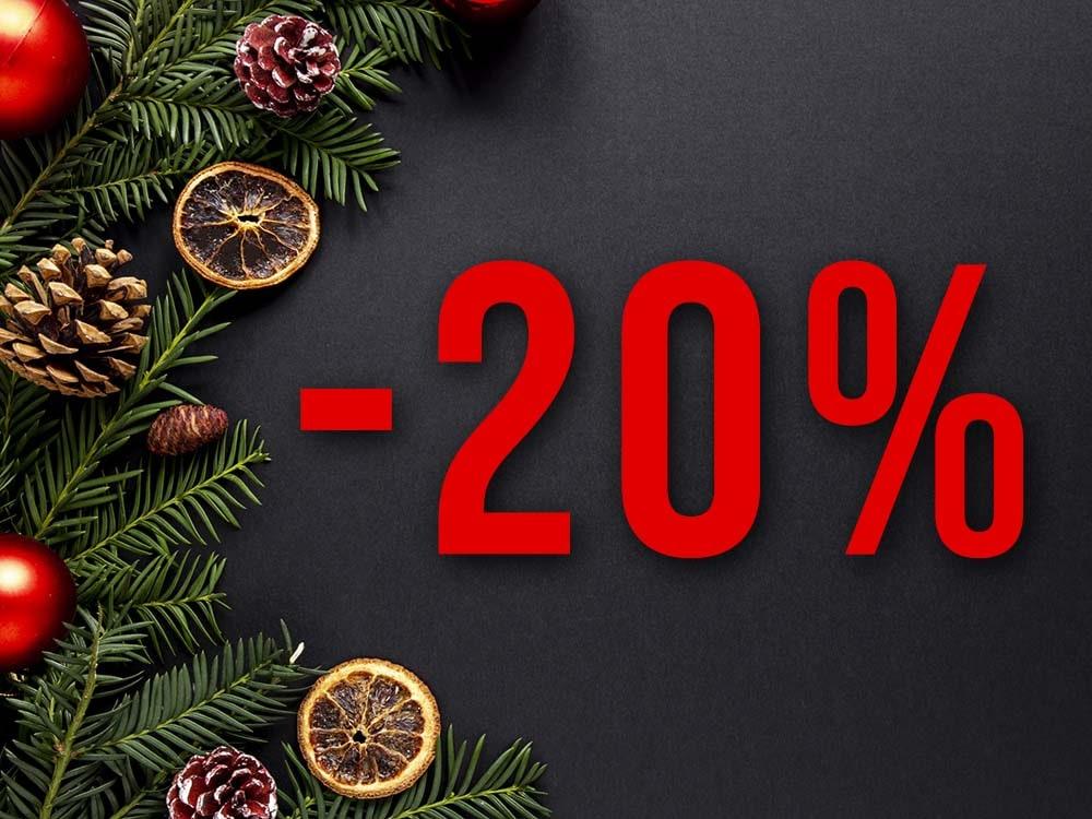 -20%-os hétvégék Karácsonyig!